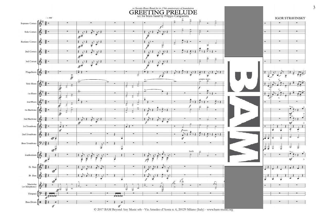 Greeting Prelude By Igor Stravinsky Bam Music