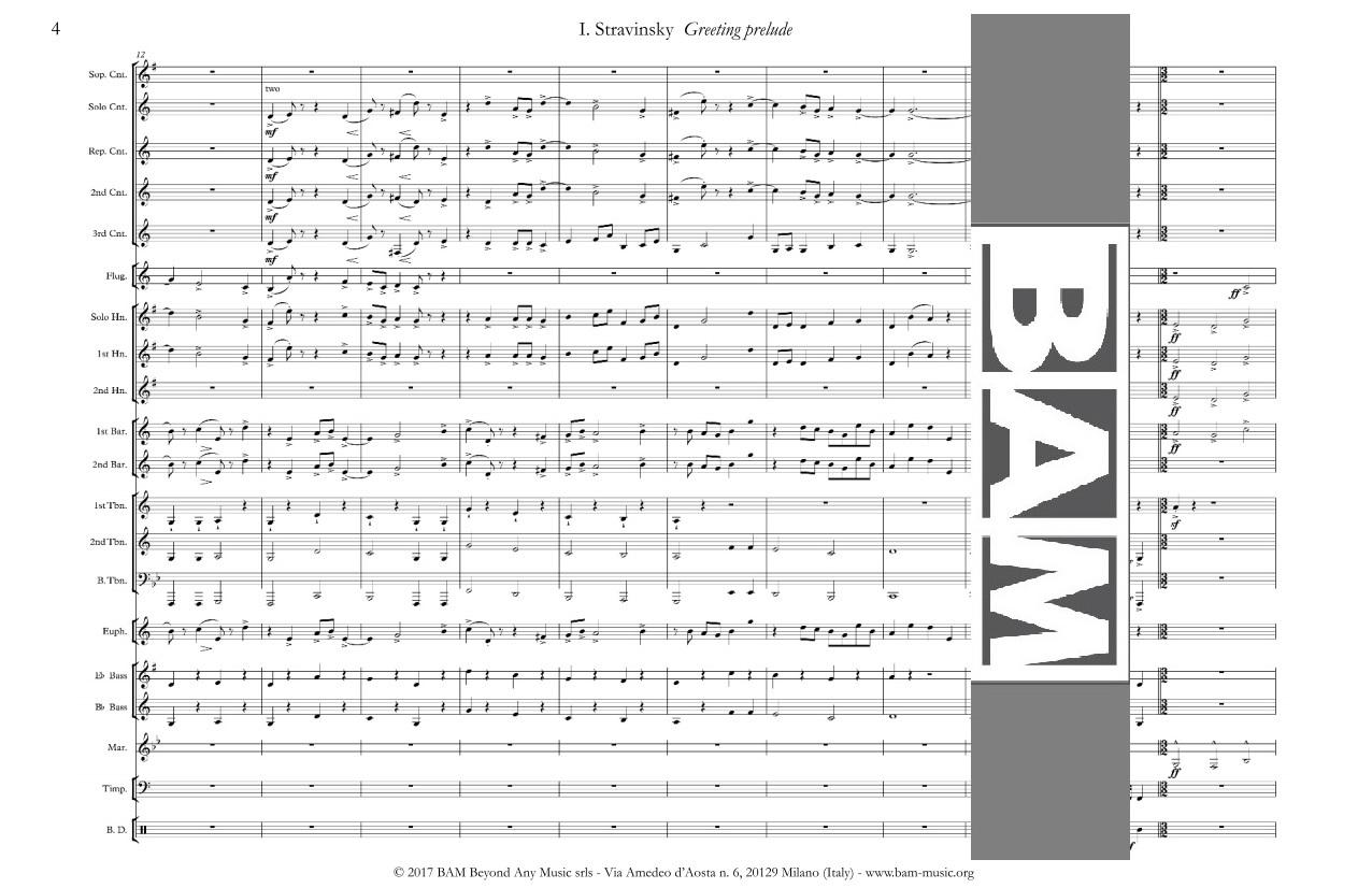 Greeting prelude by igor stravinsky bam music scoresrentalclassical music greeting prelude by igor stravinsky m4hsunfo