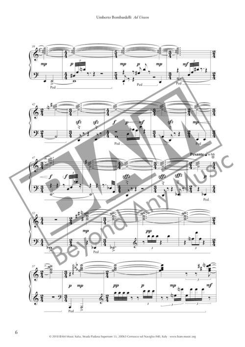 Umberto Bombardelli - Ad Unum Score