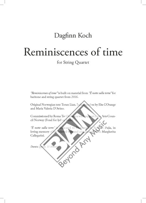 KOCH - REMINISCENCES OF TIME - SCORE_Pagina_01