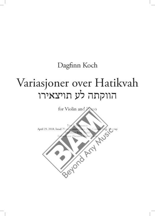 KOCH - VARIASJONER OVER HATIKVAH - SCORE_Pagina_01