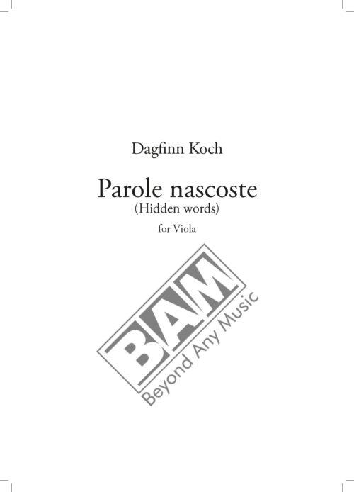 KOCH - PAROLE NASCOSTE - SCORE_Pagina_1